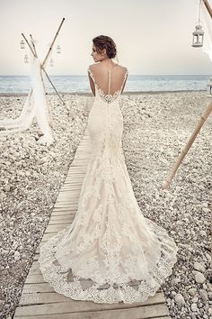 eddy k bridal 2017 cap sleeves vneck sheath lace wedding dress (aires) bv elegant romantic