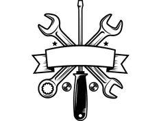 Construction Logo Wrench Screwdriver Tool Toolbox Plumber Handyman Work Build Fix Repair Adjust . Graffiti Designs, Mechanical Engineering Logo, Logo Construction, Handyman Logo, Tool Tattoo, Wrench Tattoo, Garage Art, Garage Logo, Basteln