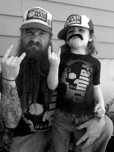 Kid Meme - Find funny kids photos to brighten your day and get a laugh! Browse our kids gifs, funny videos of kids and more! Daddy And Son, Dad Son, Father And Son, To My Future Husband, Parenting Done Right, Parenting Fail, Barba Grande, Beard Love, Beard Tattoo