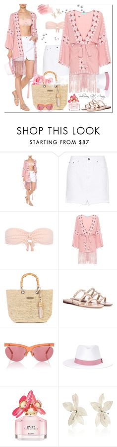 """""""Bohemian Get Away"""" by jacque-reid ❤ liked on Polyvore featuring Melissa Odabash, GRLFRND, Heidi Klein, Valentino, Linda Farrow, Marc Jacobs and Marni"""