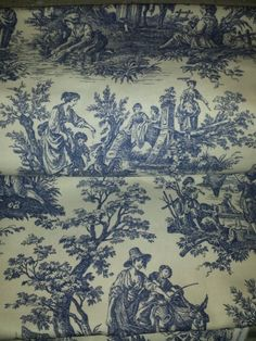 Shower Curtain Valance Waverly Fabric Country Life Toile