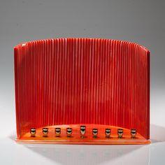 Orange Menorah: Varda Avnisan: Art Glass Menorah | Artful Home | Perfect Art for the Holidays