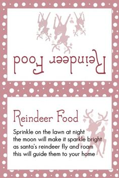Reindeer Food Med Red Dots                                                                                                                                                                                 More