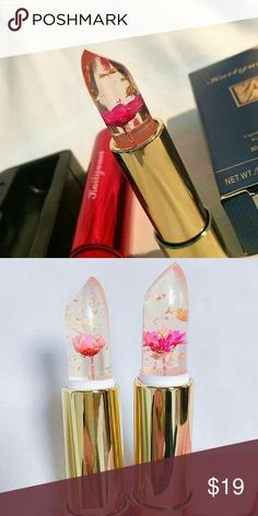 kailijumei flower lipsticks I have 5 left of these beautiful lipsticks all the original kailijumei brand with the push button that releases the lipstick valve with a side mirror, I have only one pink and the other 4 are flame red. kailijumei Makeup Lipstick
