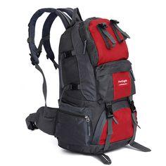 50L Zaini Da Trekking Borsa Sportiva di Grande Capacità Sacchetto di Alpinismo Esterno Insacca Donne Uomini Escursioni All'aperto Caccia Zaini di Viaggio