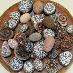River Rock designs made with India ink and sharpies