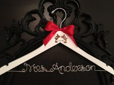 Disney Bridal Hanger Wedding Hanger Bride Hanger by GetHungUp, $35.00