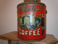 ANTIQUE COFFEE CAN TIN NASH NASH'S JUBILEE VANCOUVER BRITISH COLUMBIA RARE OLD
