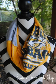 Nashville Predators Upcycled T-Shirt Infinity by SeasonedWithStyle