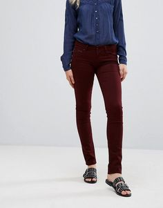 Pepe Jeans New Brooke Skinny Jeans - Red