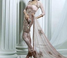 Sexy Fitted Champagne-Bling Salwar Kameez