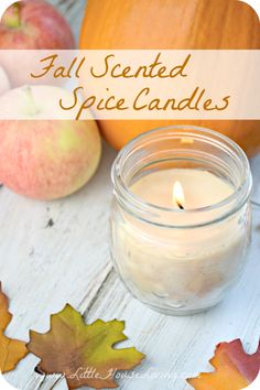 Spiced Candles for Fall! Yummy fall scents like Pumpkin Pie and Apple Pie!