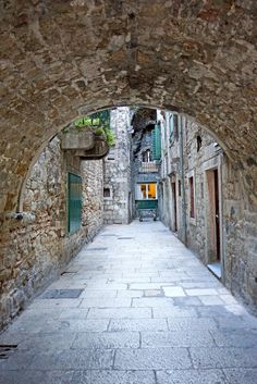 Diocletian Palace Street in Split, Croatia