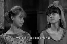 Elizabeth and Virginia Merrye (Beverly Washburn and Jill Banner) in Jack Hill's 1968 film SPIDER BABY