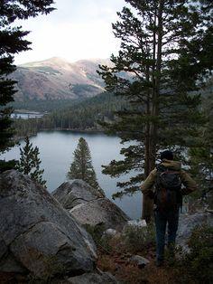 Crystal Lake in Mammoth Lakes, California.