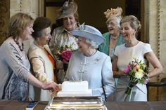 rare photos of queen elizabeth   Queen Elizabeth flanked by Sophie, Countess of Wessex (R) and Princess ...
