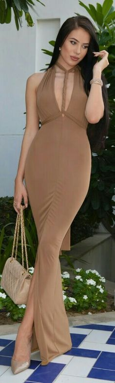 Shades Of Nude Gala Outfit by Laura Badura Fashion Casual Street Style, Street Chic, Casual Chic, Laura Badura, Gowns Of Elegance, Elegant Gowns, Nude Dress, Beautiful Gowns, Classy Outfits