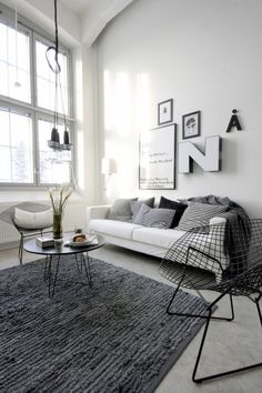 Love the charcoal rug