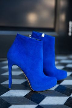 Love this blue! AV 100 Gorgeous Shoes From Pinterest For S/S 2014 - Style Estate - | +*