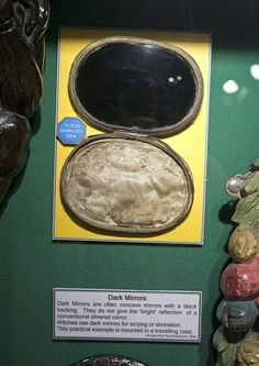witchcraft44.jpg | Flickr - Photo Sharing! dark mirrors for scrying , at the museum if witchcraft Cornwall uk, via morbid anatomy blog