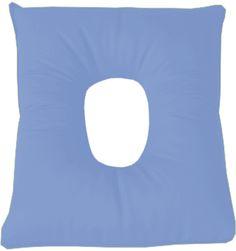 Cojin Saniluxe cuadrado con agujero. Color celeste