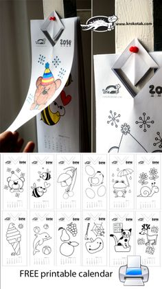 Colouring calendar for kids – 2014