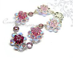 Luxurious White AB Swarovski Crystal Bracelet with by candybead