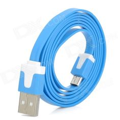 Color: Blue - Material: PVC - Reliable USB data/charging cable for most cell phones with micro USB charging port - Compatible with Samsung Galaxy S1 / S2 / S3 etc. - Length: 95cm http://j.mp/