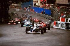 N. 5: Damon Hill (GBR) (Rothmans Williams Renault), Williams FW18 - Renault RS8 3.0 V10 (RET) N. 1: Michael Schumacher (GER) (Scuderia Ferrari), Ferrari F310 - Ferrari Tipo 046 3.0 V10 (RET) N. 3: Jean Alesi (FRA) (Mild Seven Benetton Renault), Benetton B196 - Renault RS8 3.0 V10 (RET) 1996 Monaco Grand Prix, Circuit de Monaco