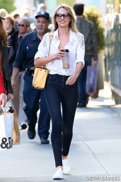 a096b9a91af Candice Swanepoel out in New York City