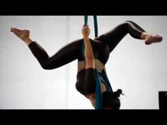 Aerial silk routine - training - YouTube
