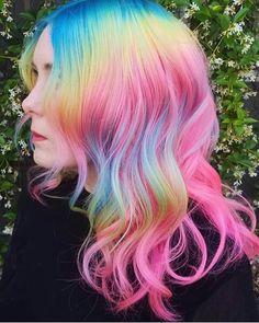 more pastel hair color ideas for you Cute Hair Colors, Pretty Hair Color, Beautiful Hair Color, Hair Dye Colors, Hair Colour, Perfect Hair, Unicorn Hair Color, Dye My Hair, Mermaid Hair