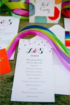 rainbow wedding ideas #rainbowwedding #weddingchicks http://www.weddingchicks.com/2013/12/26/a-rainbow-wedding/