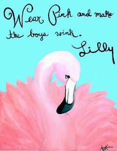 Fancy Schmancy Flamingo #lillypulitzer