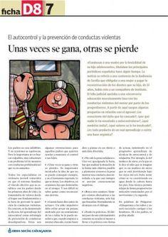 prevenir conductas agresivas el autocontrol Spanish Language, Physical Education, Physics, Parenting, Teaching, School, Books, Articles, Texts