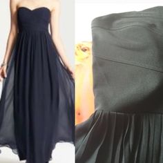 Strapless Sweetheart Maxi w/Sheer Pleated Bottom Worn once. Great condition. Very hard to take pictures of, sorry. I tried my best. The top is a bandage material sweetheart cut, strapless. No padding or underwire, but pretty thick. The bottom is a pleated sheer material with two slits for the legs. Sexy but not over the top. Purchased at Macy's. No trades. Please consider bundling for extra discount.  I have many items under $10. Ruby Rox Dresses Maxi