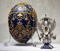 """The """"Tsarevich"""" Fabergé Egg: Presented by Nicholas II to Alexandra in 1912. Fabergé created the egg as a tribute to the miracle of the Tsarevich's survival of hemophilia."""