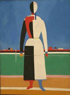 Donna con rastrello. 1928. Tretjakov Gallery