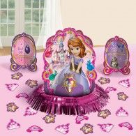Disney Sofia The First Princess Birthday Party Table Decorating Kit Assorted Decoration Pack), Multi Color, .: Give your party table a dazzling look. This adorable Sofia The First Table Decorating Kit will definitely suit a Sofia the First themed party. Birthday Table Decorations, Baby Shower Table Decorations, Birthday Party Centerpieces, Birthday Party Tables, Balloon Decorations Party, Paper Decorations, Princess Sofia Party, Princess Sofia The First, Disney Princess Birthday