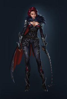 f Rogue Thief Leather Armor Cloak Whip underdark