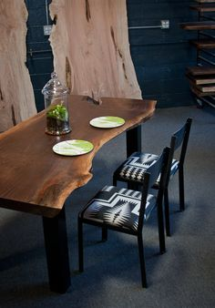 YOUR CUSTOM: Black Walnut DINING Tables and Kitchen Tables - Live Edge - Natural - Unique on Etsy, $3,500.00