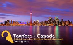Don't miss out! Tawfeer celebrates another achievement as they announce the offical launch of the new Canada branch. Soon to open! #weareTawfeer #savethedate