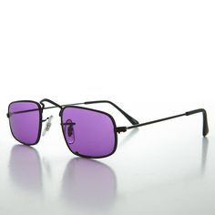 Square Hippy Victorian Ben Franklin Colored Lens Vintage Sunglasses NOS -JAZZ