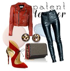 """Patent Leather"" by kaoriihayashi on Polyvore featuring Christian Louboutin, Style & Co., Yves Saint Laurent and Leka"
