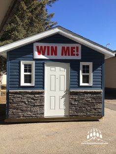 Here's an example of a nice prize for someone using our Dry Stack in Almond Buff. Almond, Shed, Outdoor Structures, Nice, Outdoor Decor, Home Decor, Homemade Home Decor, Backyard Sheds, Almond Joy