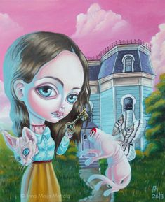 Mai Ja's World of Creepy Cute: Interview Art And Illustration, Creepy Art, Weird Art, Creepy Paintings, Fantasy Kunst, Fantasy Art, Horror, Drawn Art, Arte Obscura