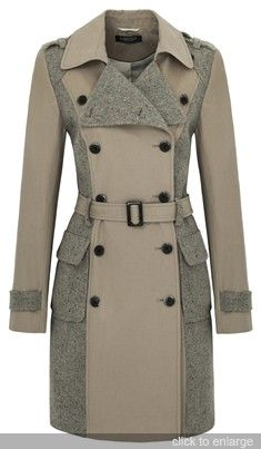 M Limited Collection tweed trench mac Indian Men Fashion, Vintage Coat, Apparel Design, Jacket Style, Winter Coat, Coats For Women, Ideias Fashion, Winter Fashion, Fashion Dresses