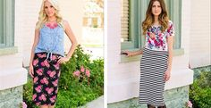 The MOST Comfortable Pencil Skirt- 6 color options!   Very Jane