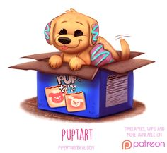 Daily+Paint+1525.+Puptart+by+Cryptid-Creations.deviantart.com+on+@DeviantArt