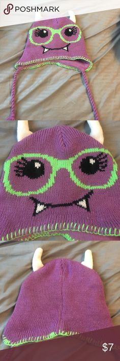 Cute kids monster hat never worn, great condition! *not Hot Topic i don't think, just for views Hot Topic Accessories Hats